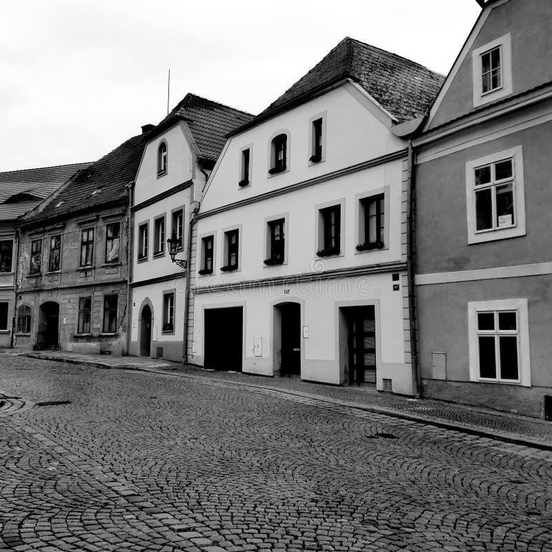 Oude straat royalty-vrije stock afbeelding