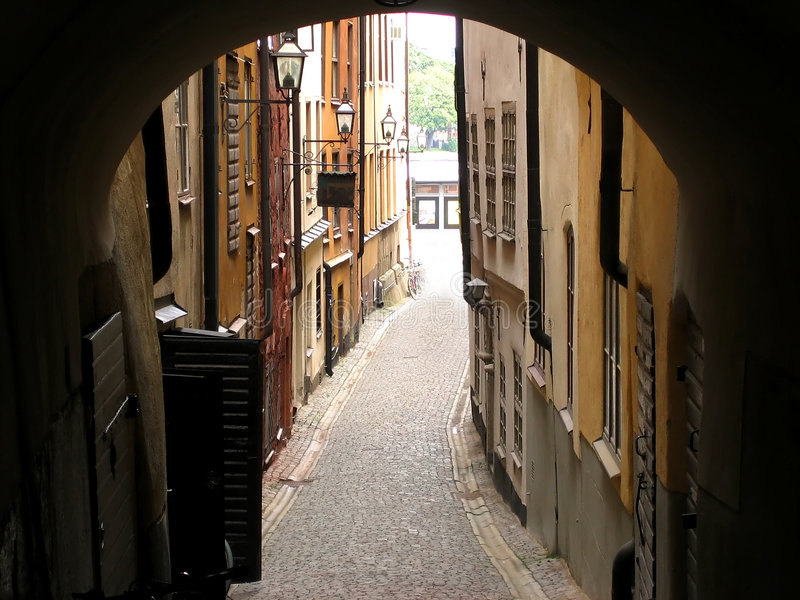 Download Oude straat stock afbeelding. Afbeelding bestaande uit stockholm - 280899