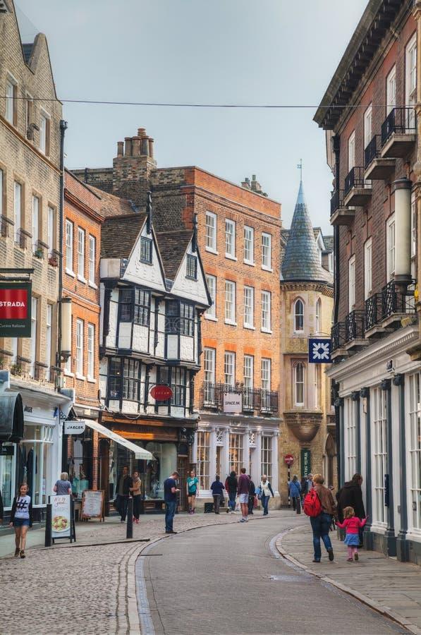 Oude straat van Cambridge stock afbeeldingen