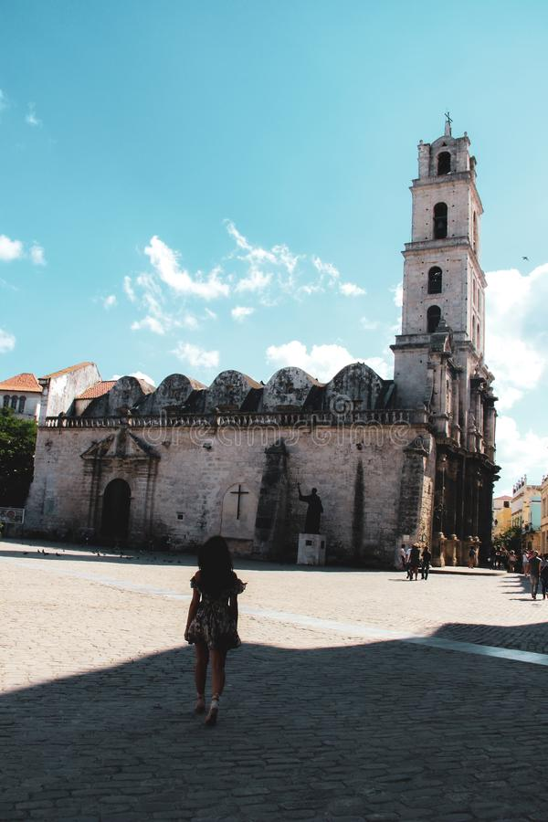 Oude straat van Havana in Cuba, Caribbeans royalty-vrije stock afbeelding