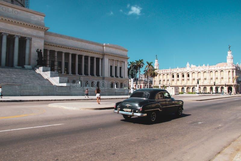 Oude straat van Havana in Cuba, Caribbeans stock afbeelding