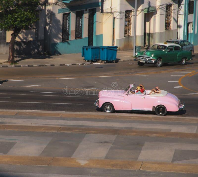 Oude straat van Havana in Cuba, Caribbeans stock fotografie