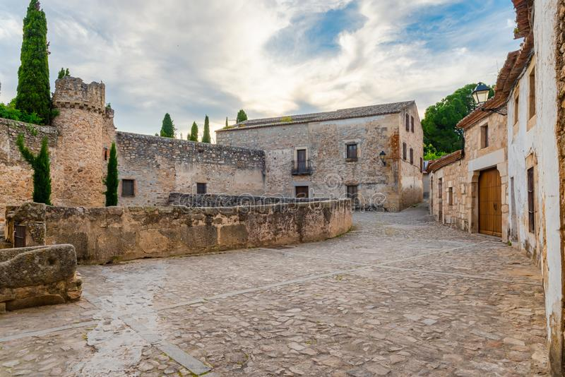 Oude Straat van Trujillo Caceres Extramadura Spanje stock afbeelding