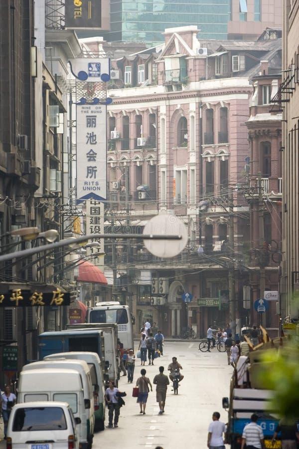 Oude straten van Shanghai stock foto