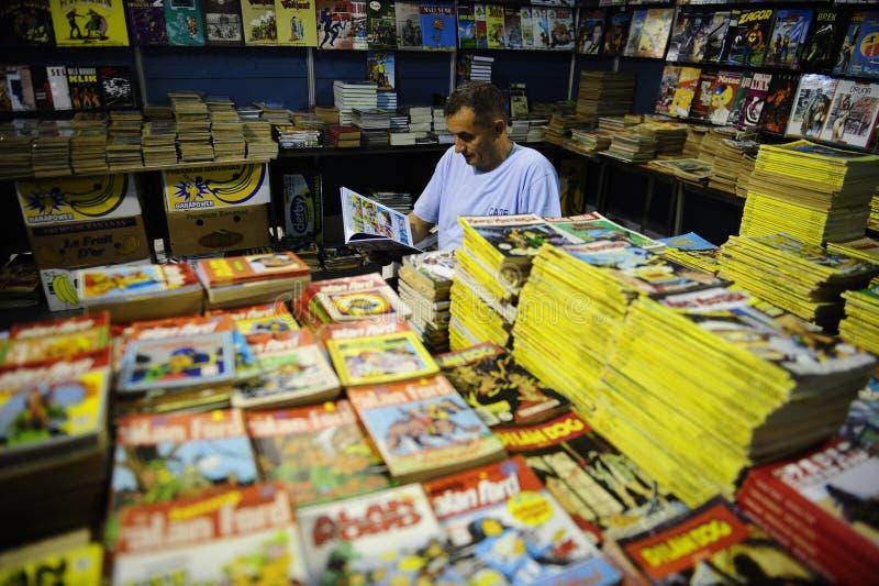 Oude strippaginaboeken voor verkoop royalty-vrije stock afbeeldingen
