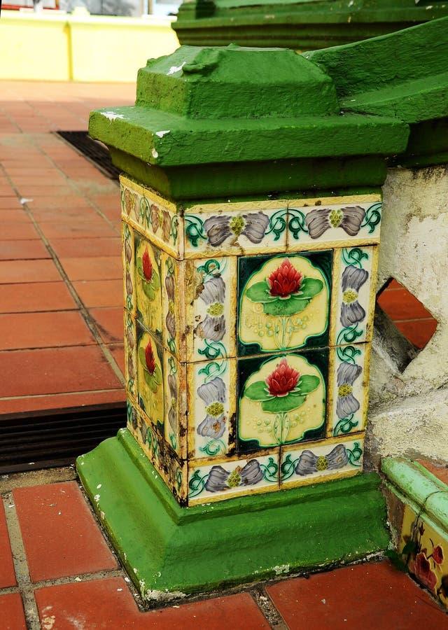 Oude tegels van de Moskee van Luchtbarok in Jasin Malacca, Maleisië royalty-vrije stock afbeelding