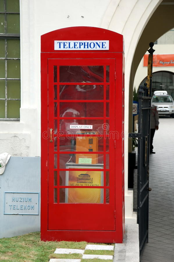 Oude telefooncel stock foto's
