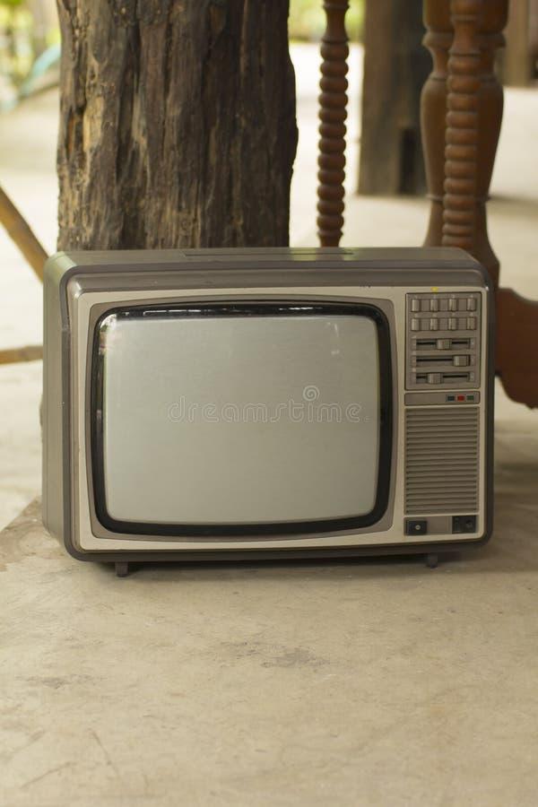 Oude televisie, TV-schrijver uit de klassieke oudheid royalty-vrije stock afbeeldingen