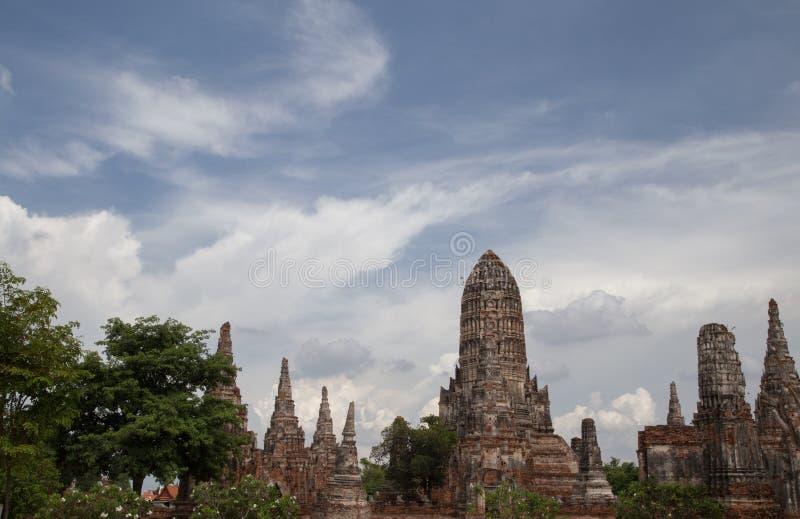 Oude tempel in Ayudhya Thailand stock afbeeldingen