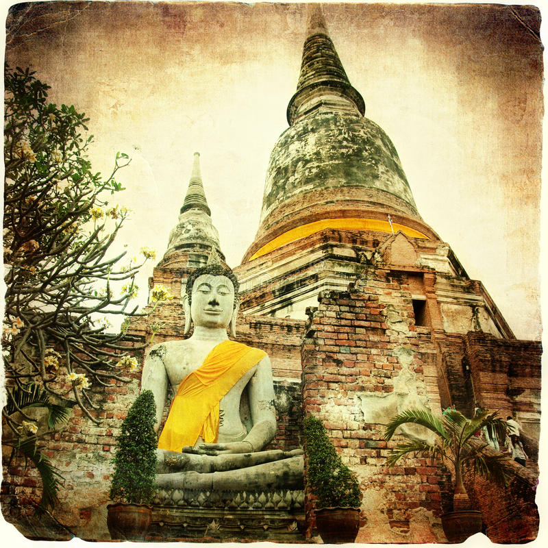 Oude tempel in Ayutthaya royalty-vrije stock fotografie