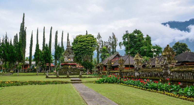 Oude tempel in Bali, Indonesië royalty-vrije stock afbeelding