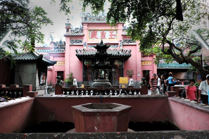 Oude tempel met Chinese stijl in Vietnam stock afbeelding