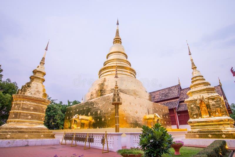 Oude tempel in noordelijk van Thailand royalty-vrije stock foto's