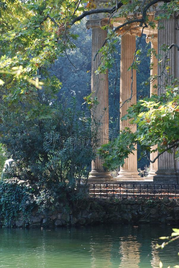 Oude Tempel in Rome, Italië royalty-vrije stock foto's