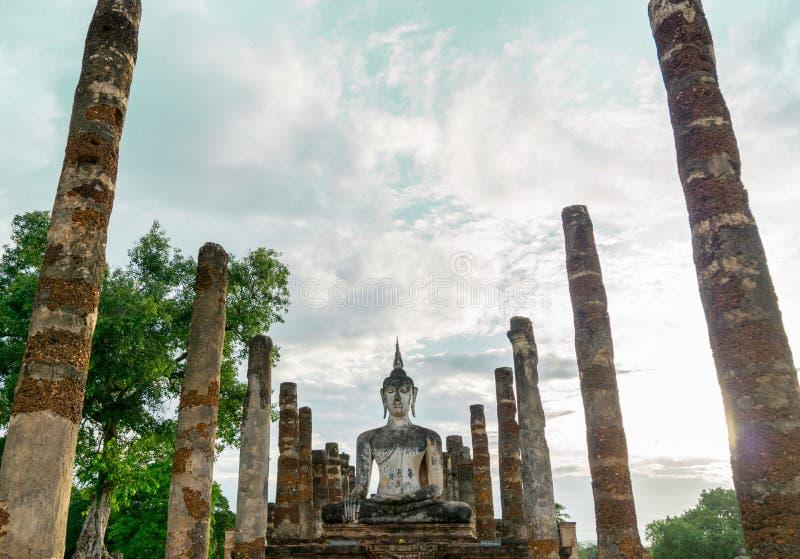 Oude Tempel in Sukhothai, Thailand royalty-vrije stock afbeelding