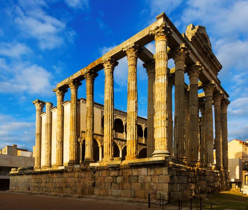 Oude tempel van Diana Merida stock afbeelding