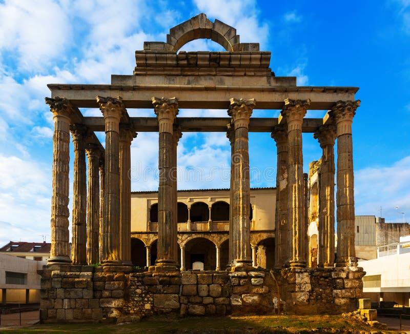 Oude tempel van Diana Merida, Spanje stock foto