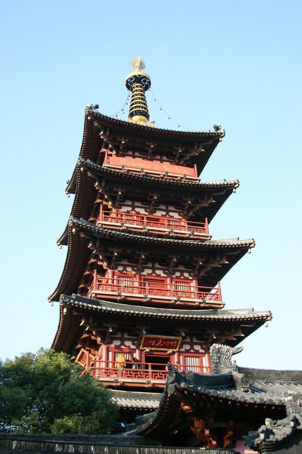 Oude tempelPagode stock afbeeldingen