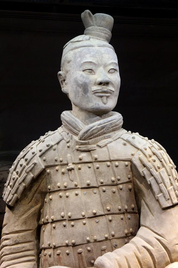 Oude terracottastrijder (Unesco) in Xi'an, China stock fotografie