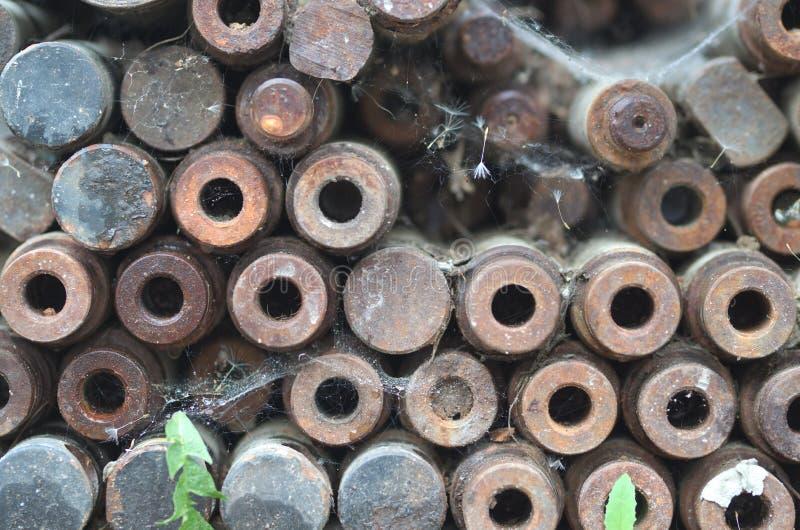 Oude textuur met staalbars royalty-vrije stock foto
