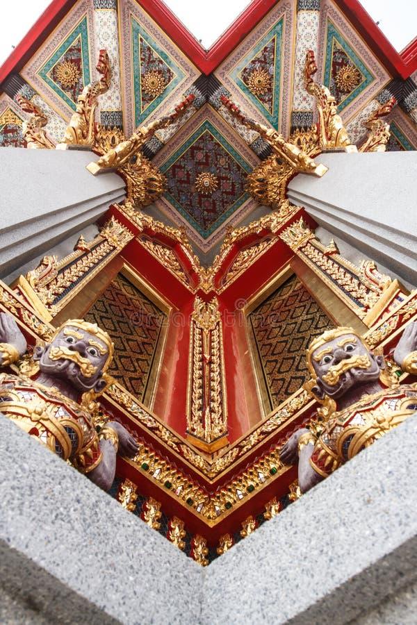 Oude Thaise heilige reuzen royalty-vrije stock foto