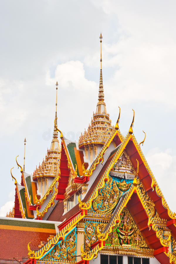 Oude Thaise tempel royalty-vrije stock foto's