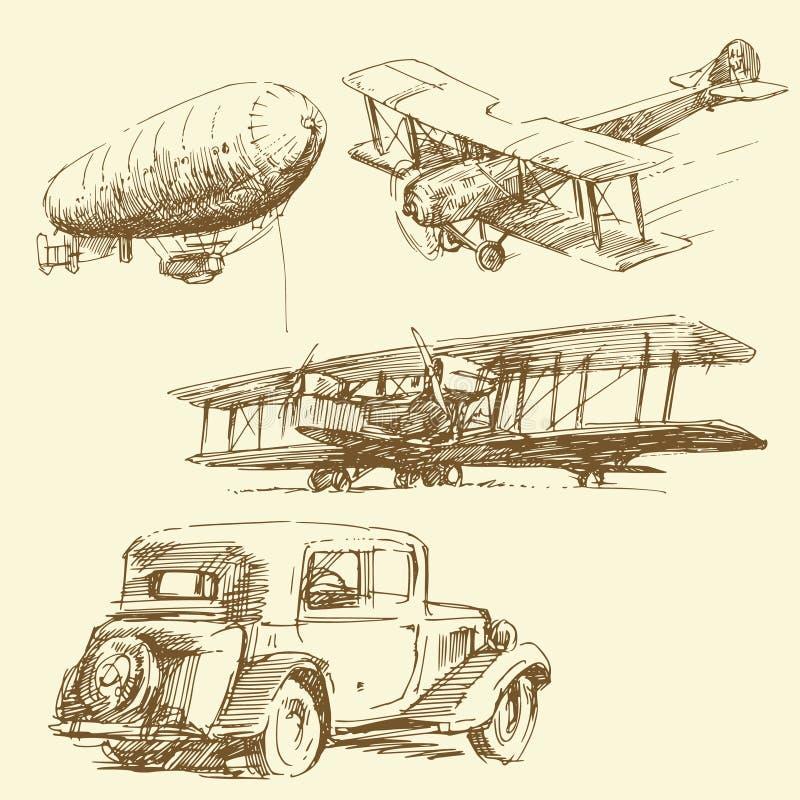 Oude tijd vector illustratie