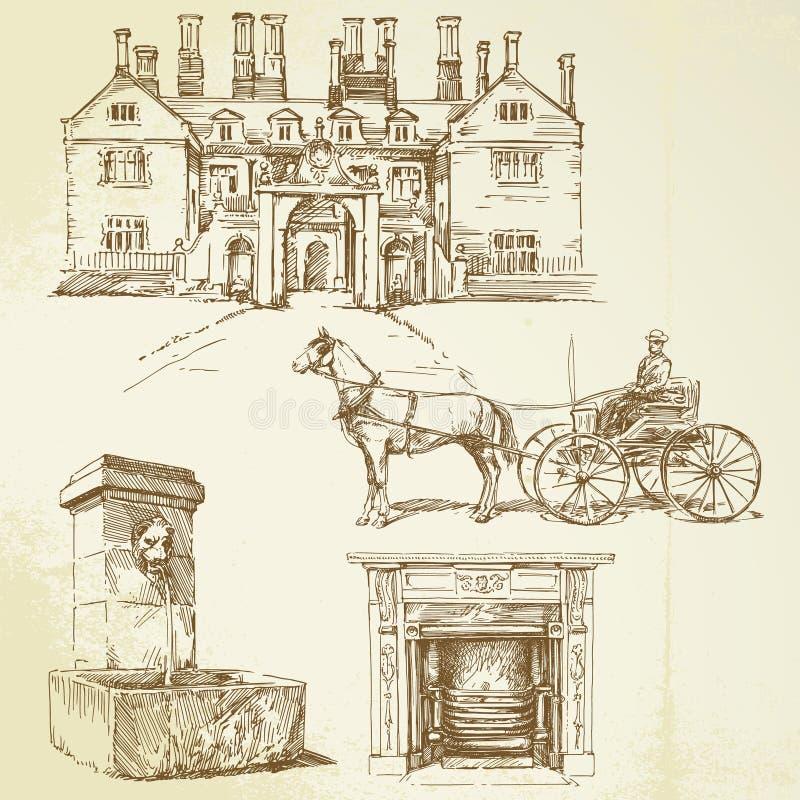 Oude tijden royalty-vrije illustratie