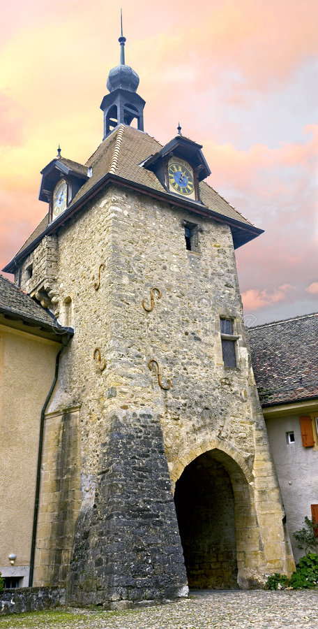 Oude toren 1 royalty-vrije stock fotografie