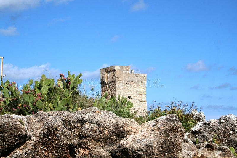 Oude toren stock fotografie