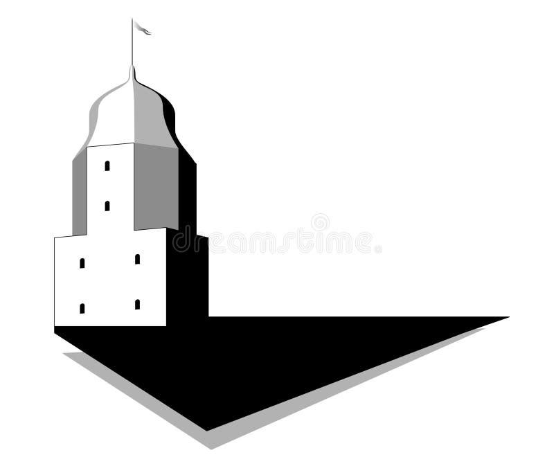 Oude toren royalty-vrije illustratie