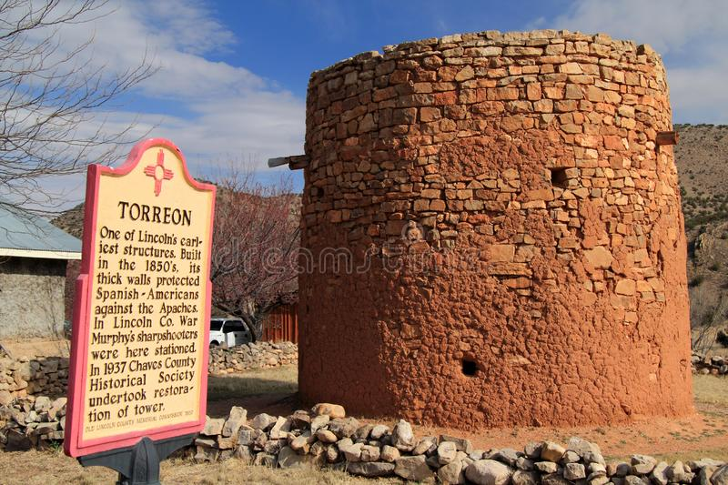 Oude Torreon in Lincoln, New Mexico stock fotografie
