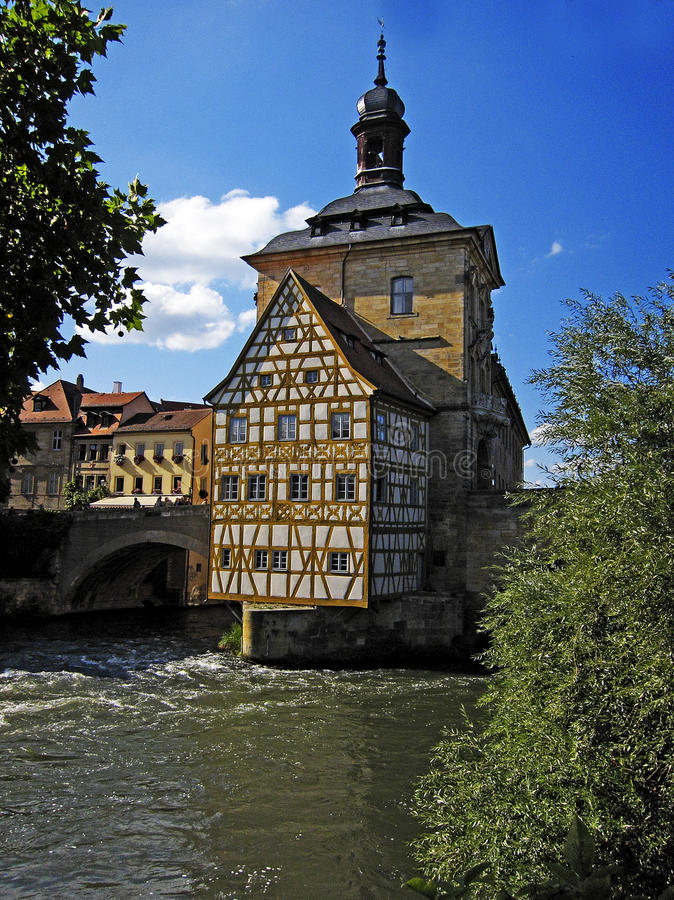 Oude townhall in Bamberg royalty-vrije stock fotografie