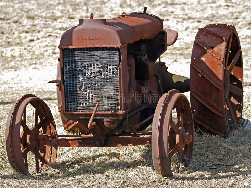Oude tractor 1 royalty-vrije stock fotografie