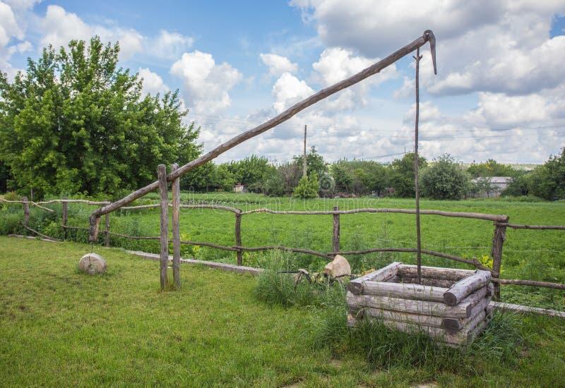 Oude traditionele Oekraïense landelijke hut royalty-vrije stock fotografie