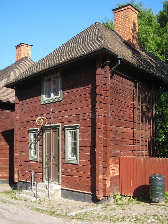 Oude traditionele Zweedse Bakkerij of Patisserie. Linkoping. Zweden. stock foto