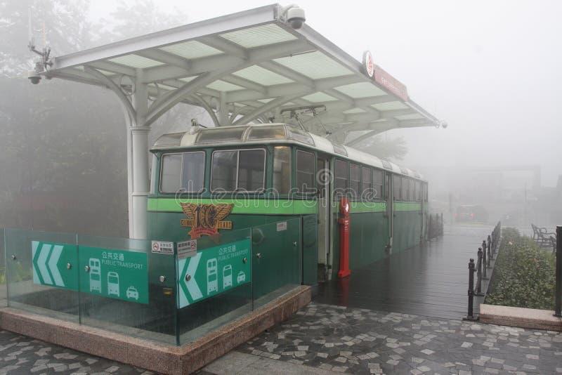 Oude tram royalty-vrije stock foto