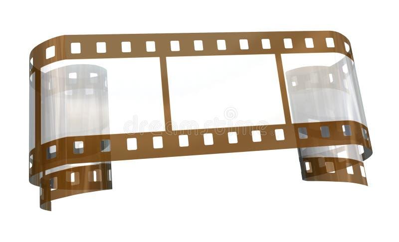 Oude transparante film royalty-vrije illustratie