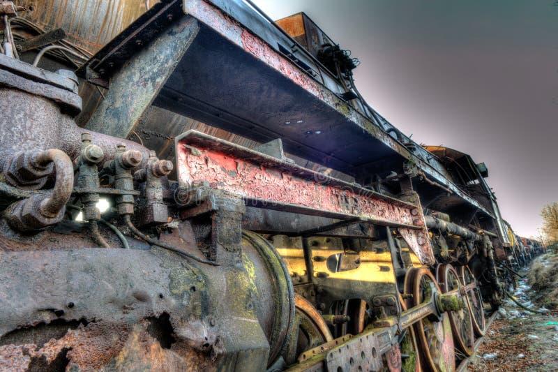 Oude trein stock afbeeldingen