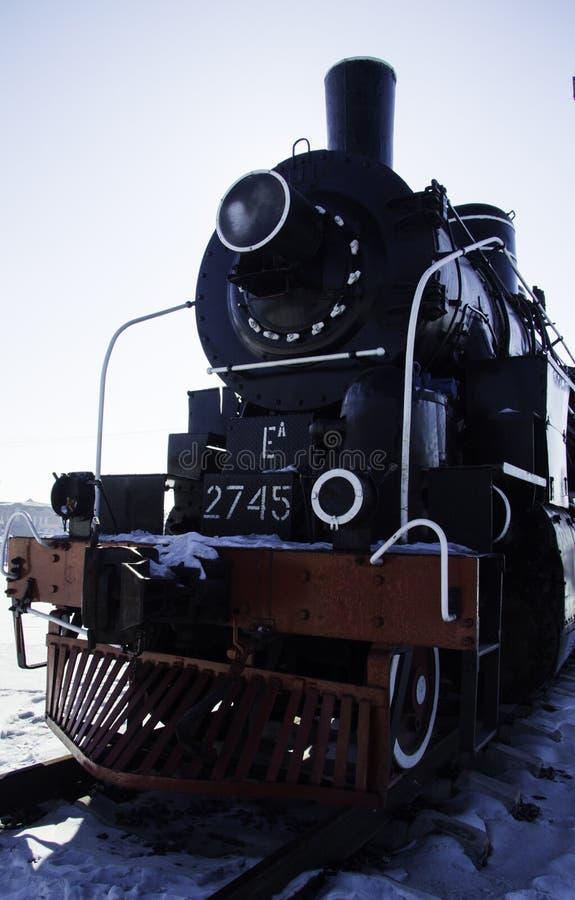 Oude trein stock afbeelding