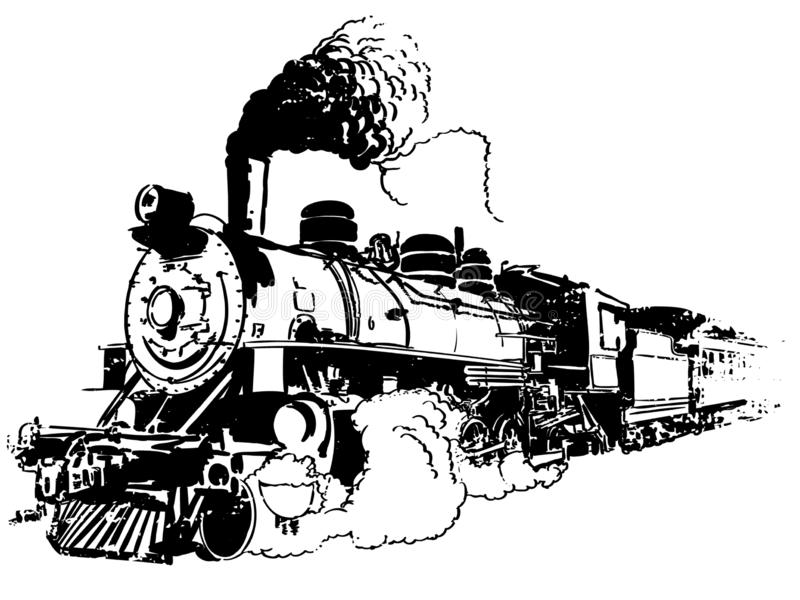 Oude treinvector, Eps, Embleem, Pictogram, Silhouetillustratie door crafteroks voor verschillend gebruik Bezoek mijn website in h vector illustratie