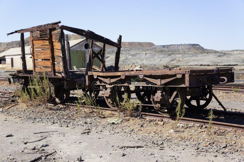 Oude treinwagen stock afbeeldingen