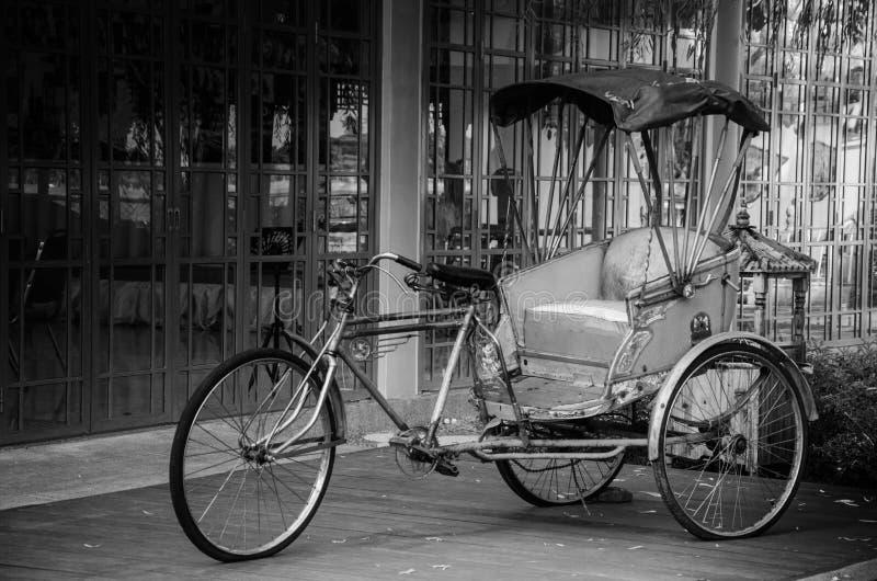 Oude trishaw stock foto