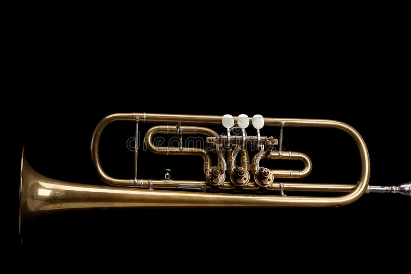 Oude Trompet stock afbeelding