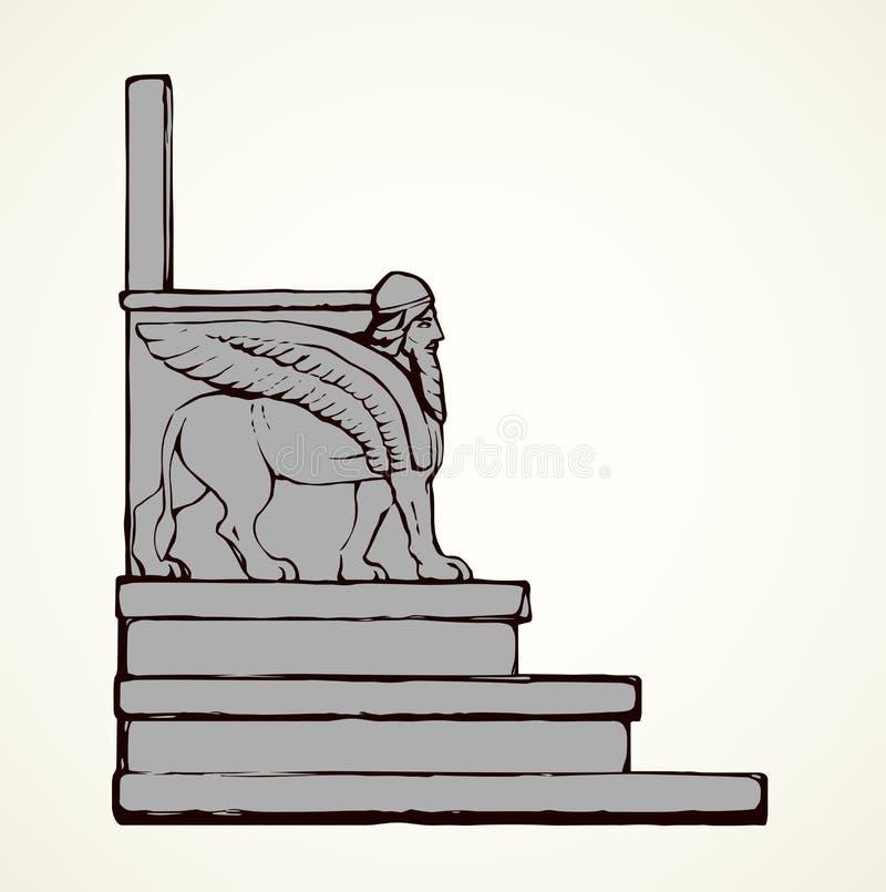 Oude troon Vector tekening vector illustratie