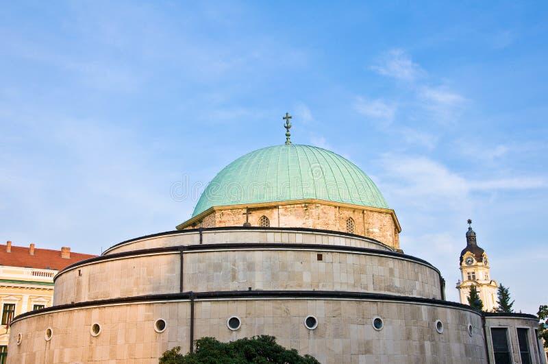 Oude Turkse moskee van Pecs, Hongarije royalty-vrije stock foto