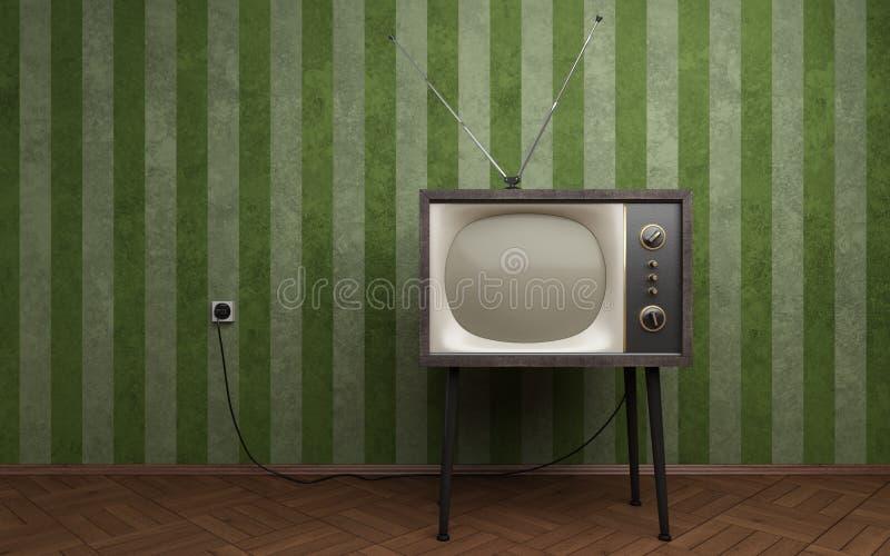 Oude TV stock illustratie