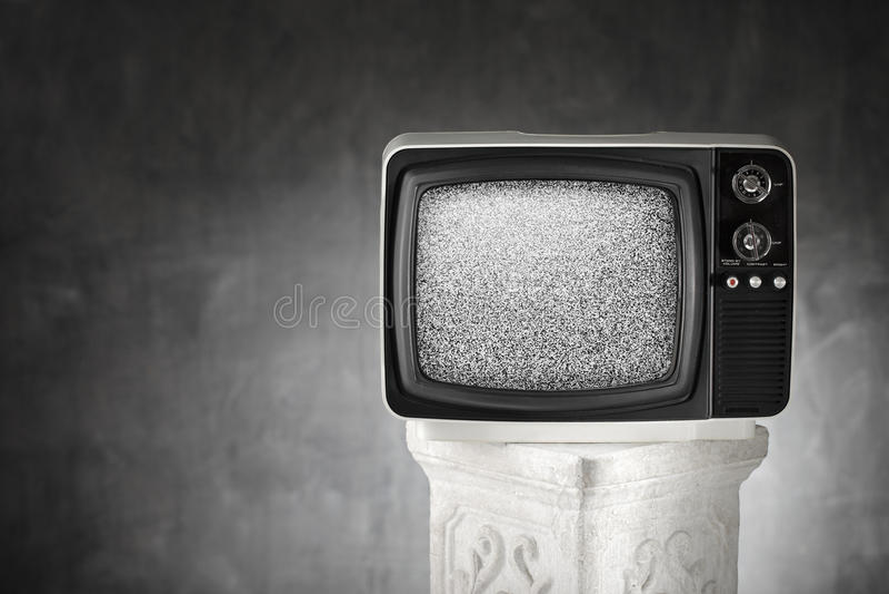 Oude TV stock foto