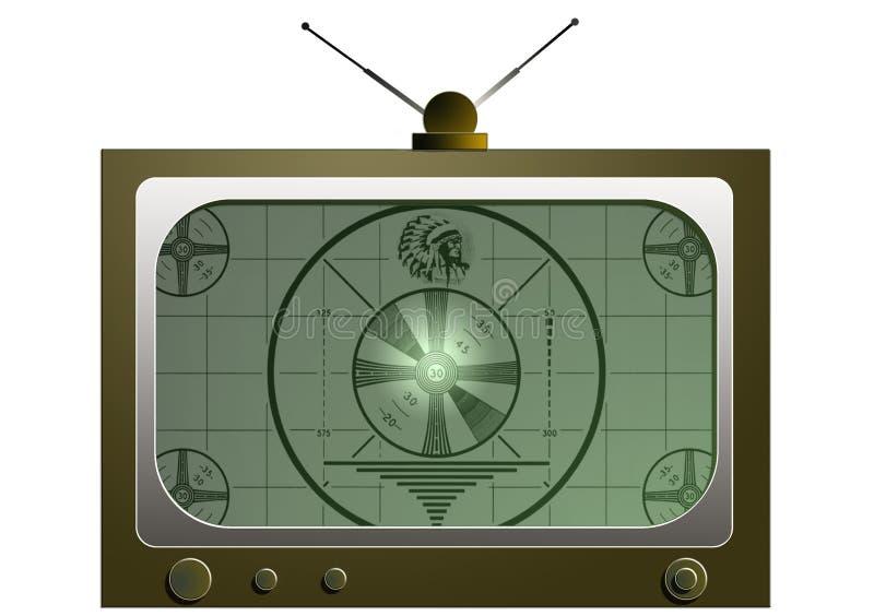 Oude TV royalty-vrije illustratie