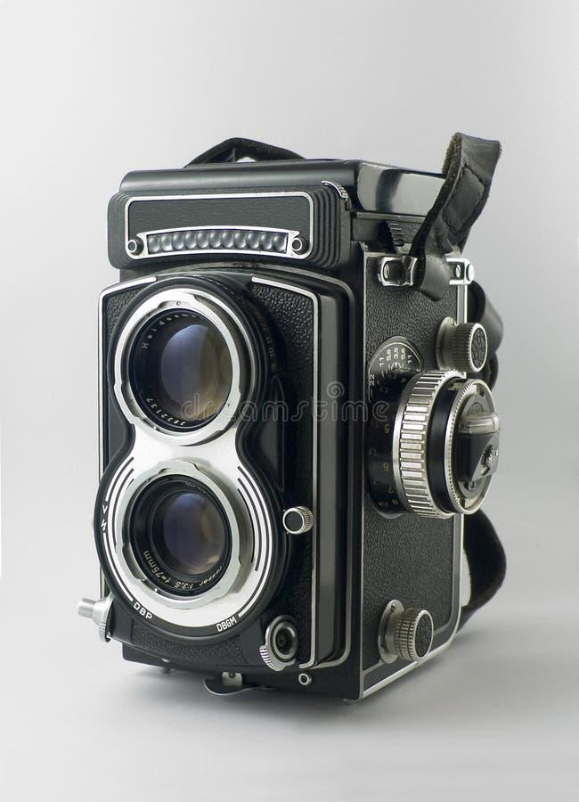 Oude tweeling-lens reflexcamera royalty-vrije stock fotografie